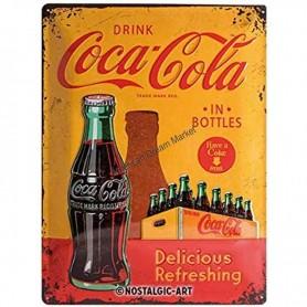 Plaque drink coca cola