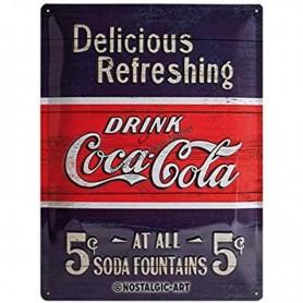 Plaque coca cola refreshing
