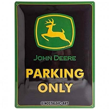Plaque john deere parking only