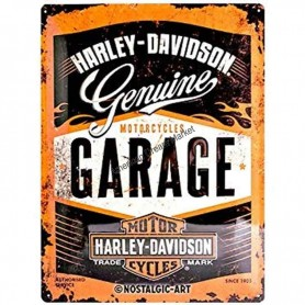 Plaque harley davidson garage