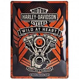 Plaque harley davidson wild at heart