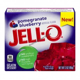 Jell-O Gellée à la grenade et myrtille
