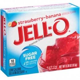 Jell-O Gellée à la fraise-banane sans sucre
