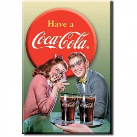 Magnet coke young couple
