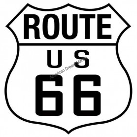 Sticker route 66 highway shield