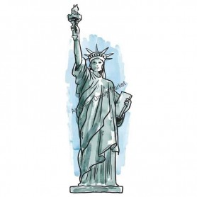Sticker ny lady liberty