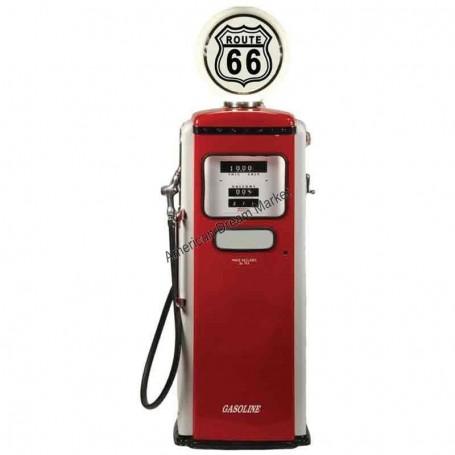 Sticker route 66 antique gas pump