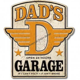 Plaque métal GM dad's garage