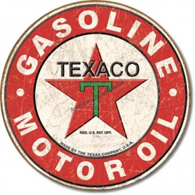 Plaque métal GM texaco