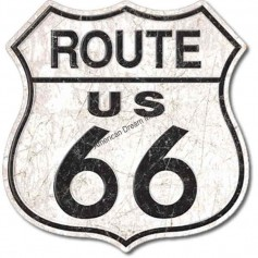 Plaque métal GM route 66
