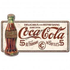 Plaque métal GM coke 5 cents
