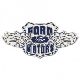 Plaque métal GM ford winged logo