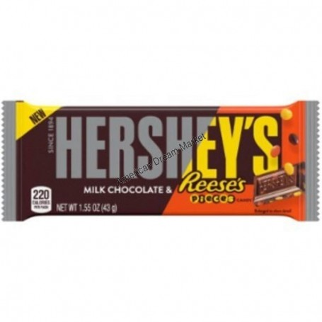 Hershey's milk chocolate and reese's pieces
