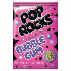 Pop Rocks popping bubble gum