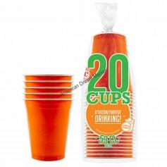 20 Gobelets Orange 53cl