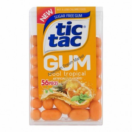 Tic tac gum cool tropical