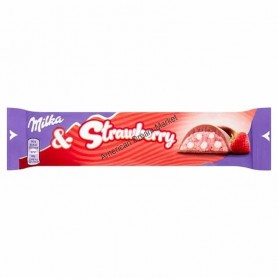 Milka and strawberry