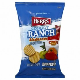 Herr's creamy ranch and habanero chips