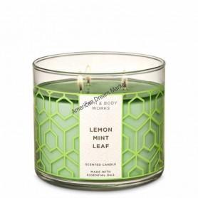 BBW bougie lemon mint leaf