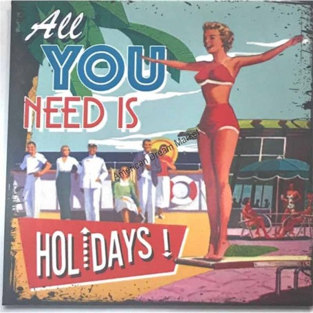Magnet vintage all you need is holidays