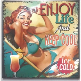 Magnet vintage enjoy life and keep cool
