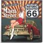 Magnet vintage america's main street