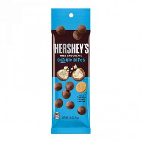 Hershey's milk chocolate cookie bites 51G