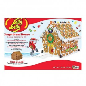 Jelly belly gingerbread house
