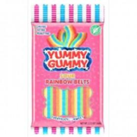 Yummy gummi sour rainbow belts