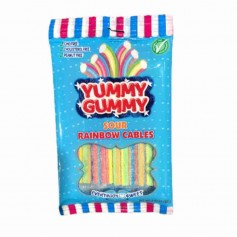 Yummy gummi sour rainbow cables