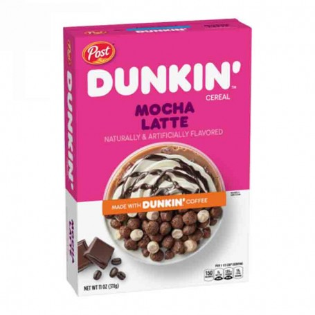 Post dunkin' cereal mocha latte