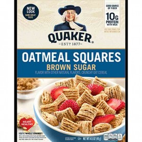 Quaker oatmeal square cereal brown sugar
