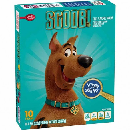 Scooby doo fruit snacks