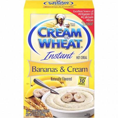 Cream of wheat instant banans and cream