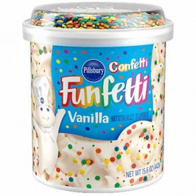 Pillsbury confetti funfetti vanilla frosting