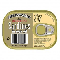 Brunswick sardines in soya oil