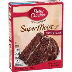 Betty Crocker super moist cake mix devil's food