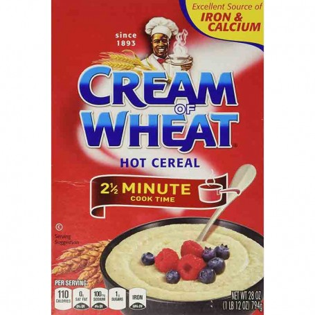 Cream of wheat hot cereal 2 1/2 minute