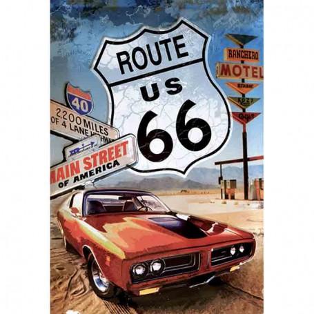 Magnet vintage route 66