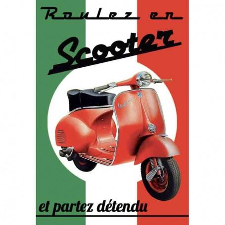 Magnet vintage scooter