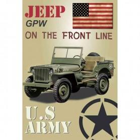 Magnet vintage jeep