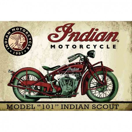 Magnet vintage indian scout