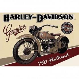 Magnet vintage harley davidson 750 flathead