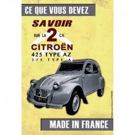 Magnet vintage 2CV jaune
