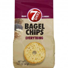 7 days bagel chips everything