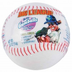 Big league baseball bubble gum