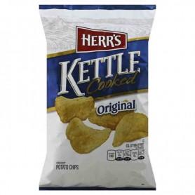 Herr's potato chips kettle cooked original