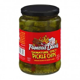 Famous dave's signature spicy pickles chips