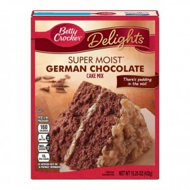Betty Crocker super moist cake mix german chocolate