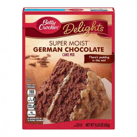 Betty Crocker super moist cake mix german chocolate